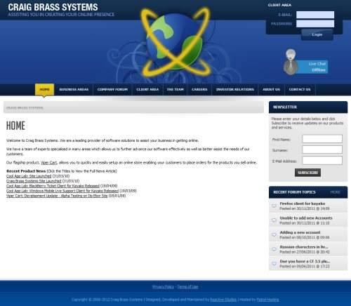 Craig Brass Systems Screenshot