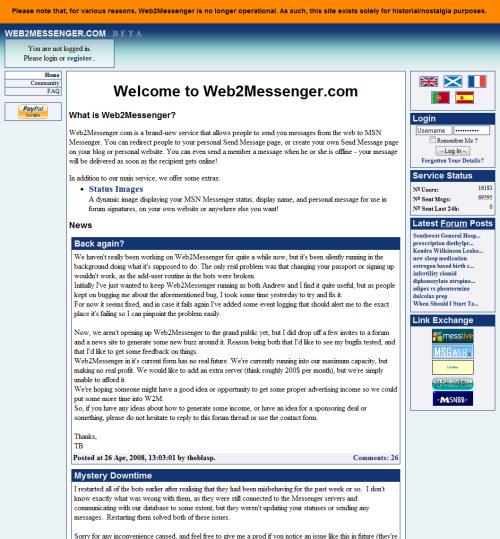 Web2Messenger Screenshot